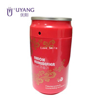 Wholesale Famous Personal Care Brand UYANG Mini Coca Can USB Supersonic Anion Humidifier for Home Car