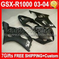 ALL Matte black Fairing For SUZUKI GSX- R1000 K3 GSX R1000 03...