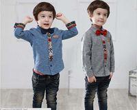 Boy apparel america - Brna New Spring Autumn Boys Casual Apparel Europe and America Gentleman Pure Cotton High Quality Baby Kids Shirt Thicken Children Shirts