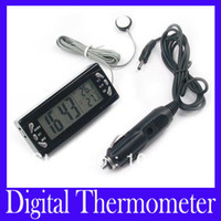 alarm clock car - Car Auto LCD Digital Alarm Clock In Out Thermometer T23 MOQ