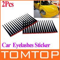 car decoration - Fashion Cool D Universal Car Headlight Eyelashes Sticker car Decoration Accessories Black wholesales K922