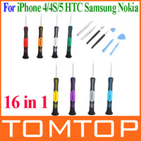 Wholesale 16 in Opening Pry Tools Disassembly phone Repair Kit Versatile Screwdriver Set for iPhone S HTC Samsung Nokia smartphone PA1502