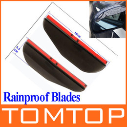 Wholesale 2Pcs Universal Flexible PVC Car Rearview Mirror Rain Shade Rainproof Blades car back mirror s eyebrow rain cover K885