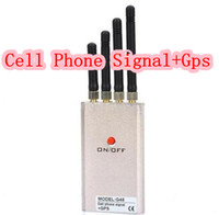 Wholesale G45 Portable GSM CDMA GPS DCS PHS G Mobile Cell Phone GPS Blocker Signal protector