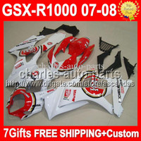 100%NEW+ Cowl + 7gifts For SUZUKI GSXR1000 K7 07- 08 GSX- R1000 ...