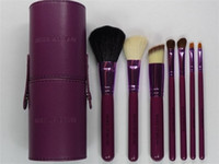 7 Pieces Face Powder Brushes  Hot sell Set 7Pcs Professional Makeup Cosmetic Brush Set Kit Tool With cylinder box