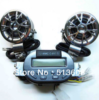 Wholesale New V ATV FM Radio and Waterproof loudspeaker Motorcycle Audio STEREO SPEAKER Set AUDIO SOUND SYSTEM H841