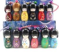 Wholesale Job Japanese kokeshi doll mobile phone strap Charm