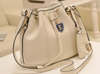 Women Plain PU Designer Cheap Lady Shoulder Bag with Solid Color+E Style Bucket Bag 0827A4