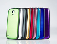 Wholesale New Stylish Brushed Metal Replacement Back Cover For Samsung GALAXY S4 MINI I9190 Battery Door Back Cover Housing Covers Case Mix Colors