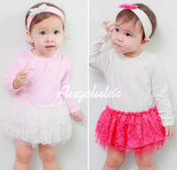 baby girl onesie lot - Baby one piece romper set New pettiskirt tutu rompers with headband christmas clothing baby rompers baby onesie colors