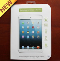 Wholesale Explosion proof Tempered Glass Film Screen Protector for new iPad Mini amp iPad Tough Guard amp Home Button Sticker HKpost