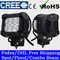 Wholesale 4 Inch W Cree lm IP68 W LED Light Bar Flood Spot Pencil Beam for WD x4 Offroad Jeep Truck Car Mining Boat LED Work Light