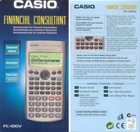 Wholesale Casio FC V Financial Calculator with Line Display