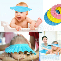Shower Caps hair washing hat - Baby Child Kid Shampoo Bath Shower Wash Hair Shield Hat Cap Yellow Pink Blue mix WY58 p