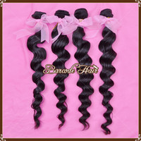Loose Wave Brazilian Hair 1B# On Sale Mixed Length 3Pcs Lot Loose Wavy Brazilian Remy Virgin Hair Weft Natural 1B# Color Can Be Dyed Bleached AAAAA Quality