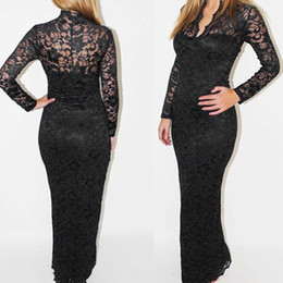 2017 New women lace dresses Fashion maxi sexy party dress for ladies elegant fall long lace dress girls dress SX38