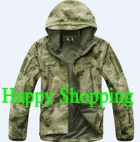 Wholesale FG ATACS Color softshell windbreaker Jacket For Outdoor Hunting Camping Waterproof Army Coat Outerwear Hoodie