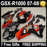 7gifts+ Customized For SUZUKI GSXR1000 K7 Orange black 07- 08 ...