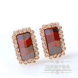 Fashion atmosphere crystal diamond flower lady's earings (ma52)