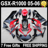 7gifts+ Seat Cowl HOT Red black For SUZUKI GSXR1000 K5 05 06 ...
