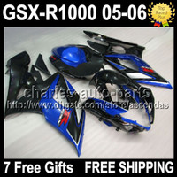 Black black 7gifts+ Seat cowl For SUZUKI GSXR1000 K5 05- 06 GS...