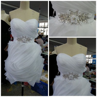 Wholesale Best selling sweetheart Sexy sheath mini short Sexy white wedding dresses new arrival