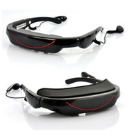 Wholesale 3D Stereo Portable Eyewear Inch Widescreen Multimedia Player Video Glasses Virtual Theatre GB VG320 retail pc freeshipping