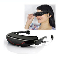 Wholesale 3D Stereo Portable Eyewear Inch Widescreen Multimedia Player Video Glasses Virtual Theatre GB VG320 retail DHL EMS freeshipping