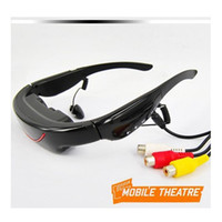 Wholesale D Stereo Portable Eyewear Inch Widescreen Multimedia Player Video Glasses Virtual Theatre GB VG320 DHL freeshipping