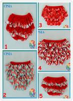 ruffle diaper cover - Chirsmas ruffle petti bloomer infant diaper covers cute baby bloomers
