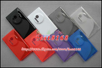 Wholesale S wave line case Soft silicone TPU Gel Case For Nokia NK lumia skin cover clear crystal jelly cases