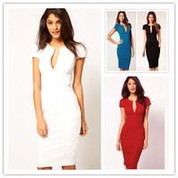 2013 Elegant Ladies' V- Neck Fashion Celebrity Pencil Dress, W...