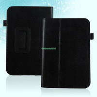 7'' For Apple For Ipad 2/3 EP4927 PU Leather Magnetic Case Cover Stand For Barnes & Noble Nook HD 7 Inch Black