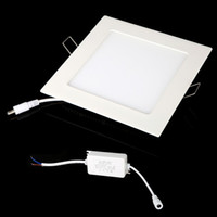 Wholesale 12W AC V Ultra Thin Square Ceiling Panel Light Wall Recessed Down Lamp LM SMD2835 LED Pure White