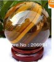 Wholesale natural mm rare nature tiger eye quartz crystal sphere stand stone ball