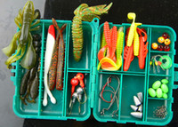Wholesale New Texas fishing groups short sea shipping lures Set Kit Crank lures soft bait hook lead head hook Fishing Lure Set