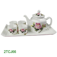 china tea sets - 6pcs bone china tea set in a gift box TCJ66
