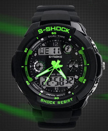 Wholesale Brand New Sports Digital Watch Wrist Watch LED Watch Japan Double movement Swimming Meter waterproof Colors