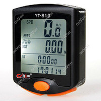 Wholesale S5Q LED Display Cycling Bicycle Bike Functions Computer Odometer Speedometer AAACFJ