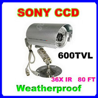 CCD Outdoor BV-2638 SONY 600TVL Weatherproof Bullet Camera 36-LED IR Day Night Vision High Resolution CCD Camera