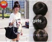 Wholesale Button wig bag hair bags meatball head fluffy curly hair bag