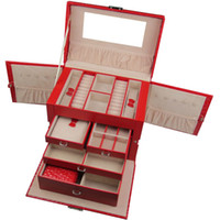 Wholesale Crocodile Luxury Jewelry Boxes Drawer Locker Rings Four Layers Butterfly Earring Display