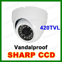 Wholesale 24 LED Waterproof Outdoor IR Night Vision CCTV Camera Home Security Surveillance Vandal Dome In White