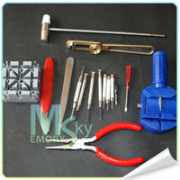 Wholesale AAAQuality Horologe Wrist Watch watchmakers Case Opener Repair Tools Set Kit