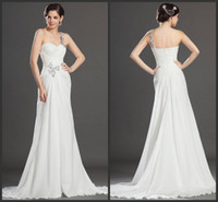 Wholesale Sexy beauty floor length mermaid white chiffon sliver Prom dresses elegant formal Evening Gowns gla2873