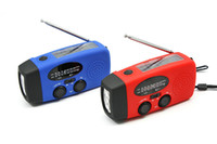 Wholesale Neverland Blue And Red Mini Portable Solar Radio With USB Cable And Power Output Line