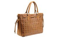 Women Paisley PU 2013 Designer Handbags Yellowish Brown MCM Hobo Bags for Women Medium Shoulder Bags Vintage Visetos Cognac Handbags Hot Sale Elegant Bags