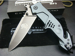 Wholesale EXTREMA RATIO MF3 Large Size Folding knife Pocket Hunting Knives Cr13 HRC Oxidation Gray Blade Aluminium Handle freeshipping