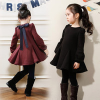 Girl's Dresses Children autumn clothing long- sleeve bow Chil...
